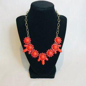 J.Crew Orange Bead Clover Necklace #45